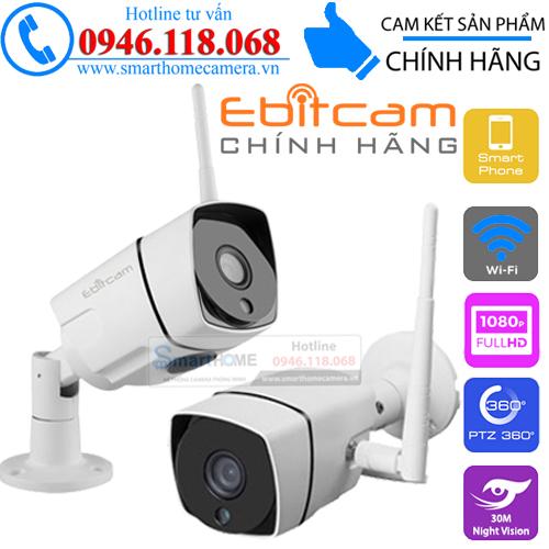Trọn bộ Camera Ebitcam E2 & EBO1 1.0M 720P HD (Combo gia đình vừa)