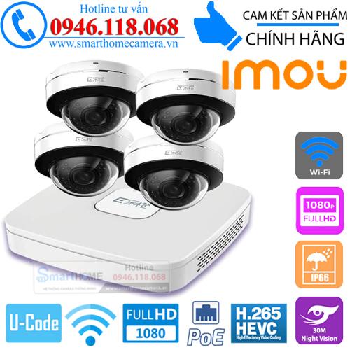 Combo KIT Camera IMOU IP Dome POE 2.0M FullHD