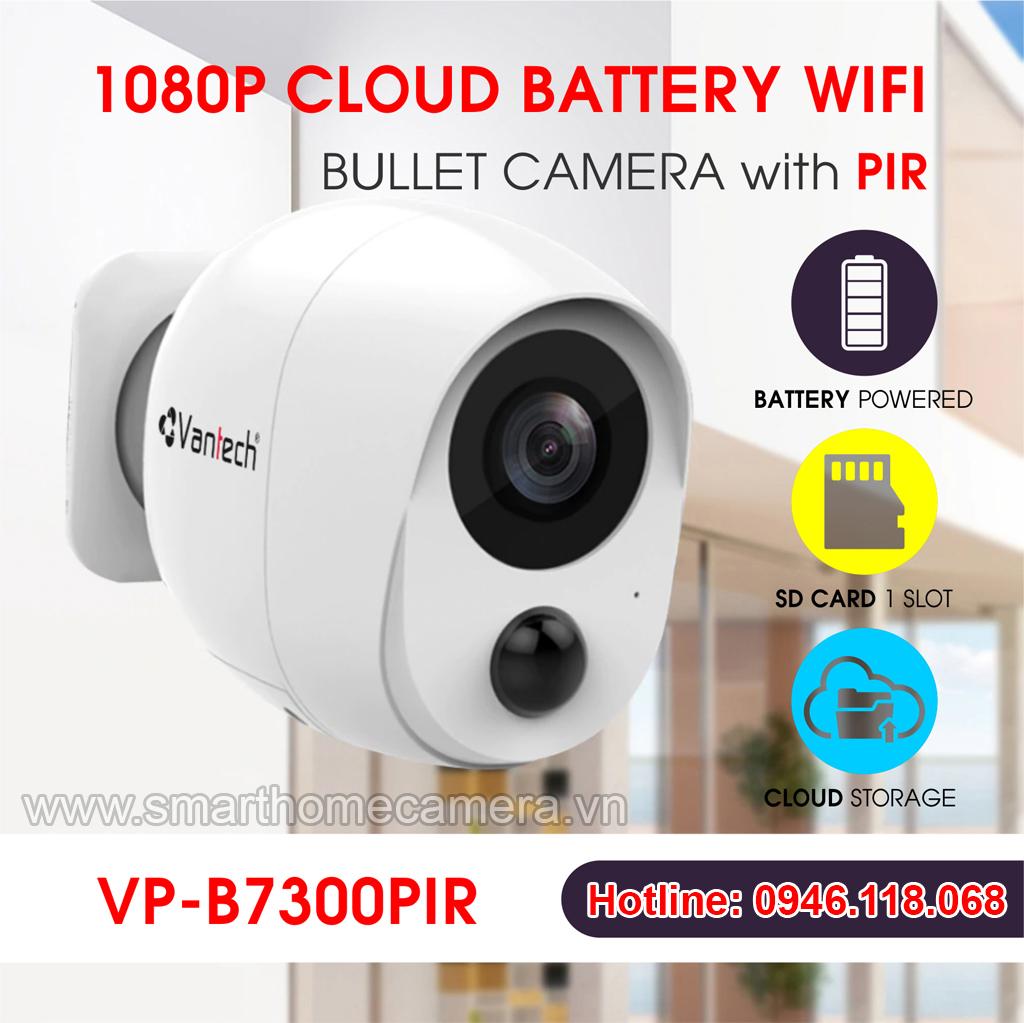Camera Wifi Vantech VP-B7300PIR 2.0Mp 1080P FullHD