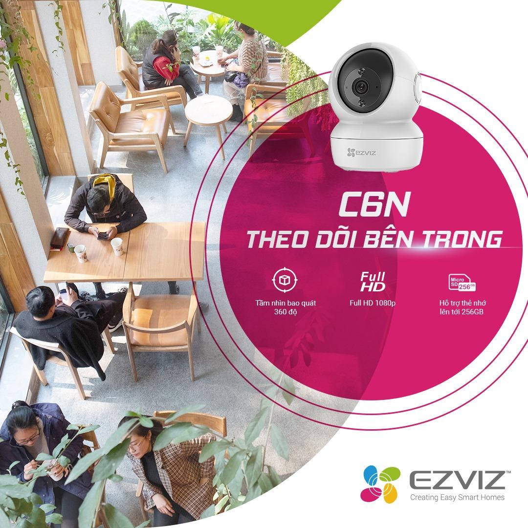Camera Wifi Ezviz CS-C6N 1080P 2.0Mp FullHD