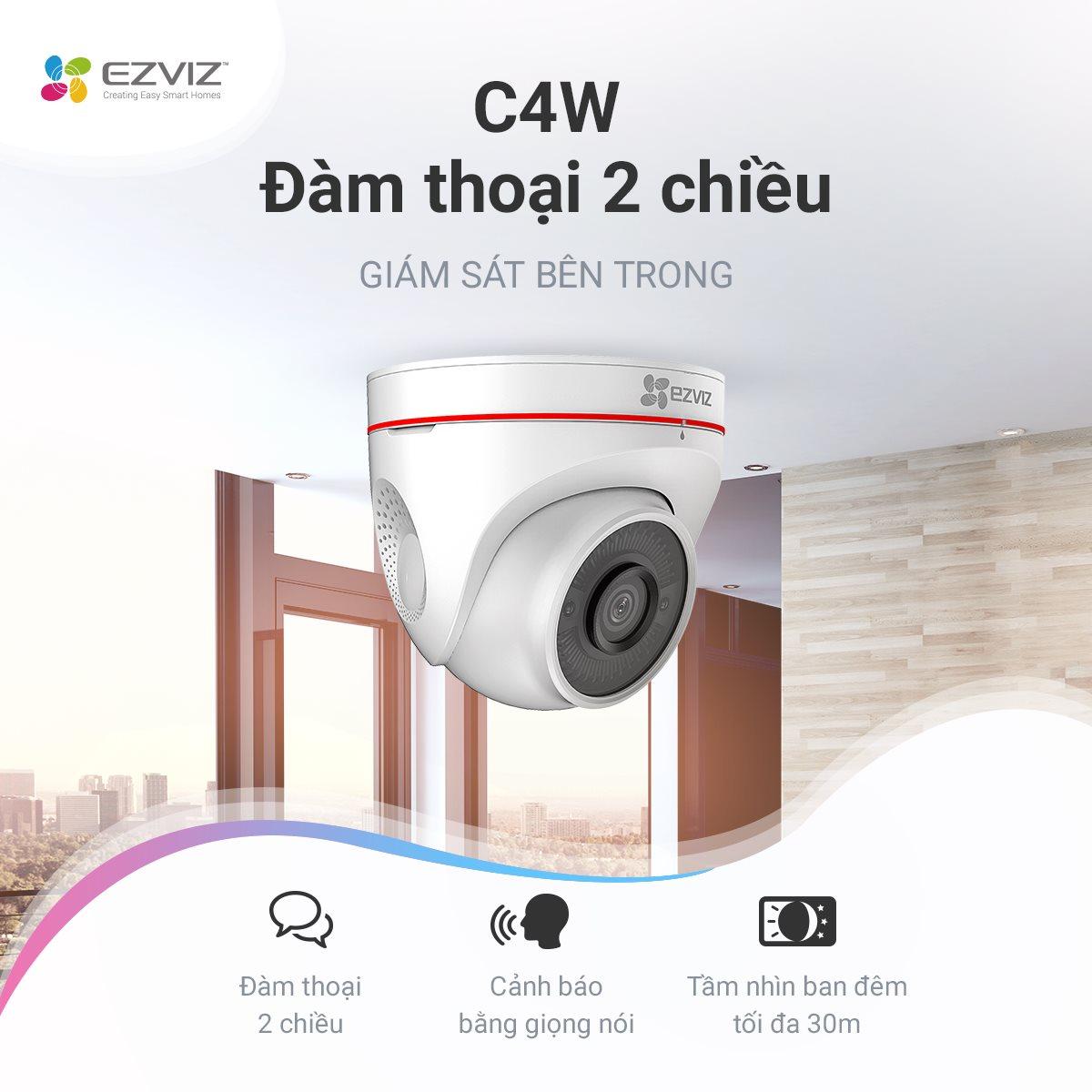 Camera Wifi Ezviz C4W 1080P 2.0Mp FullHD