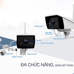 Camera EbitCam EB02 IP Wifi 2MP Wifi lắp ngoài trời chính hãng