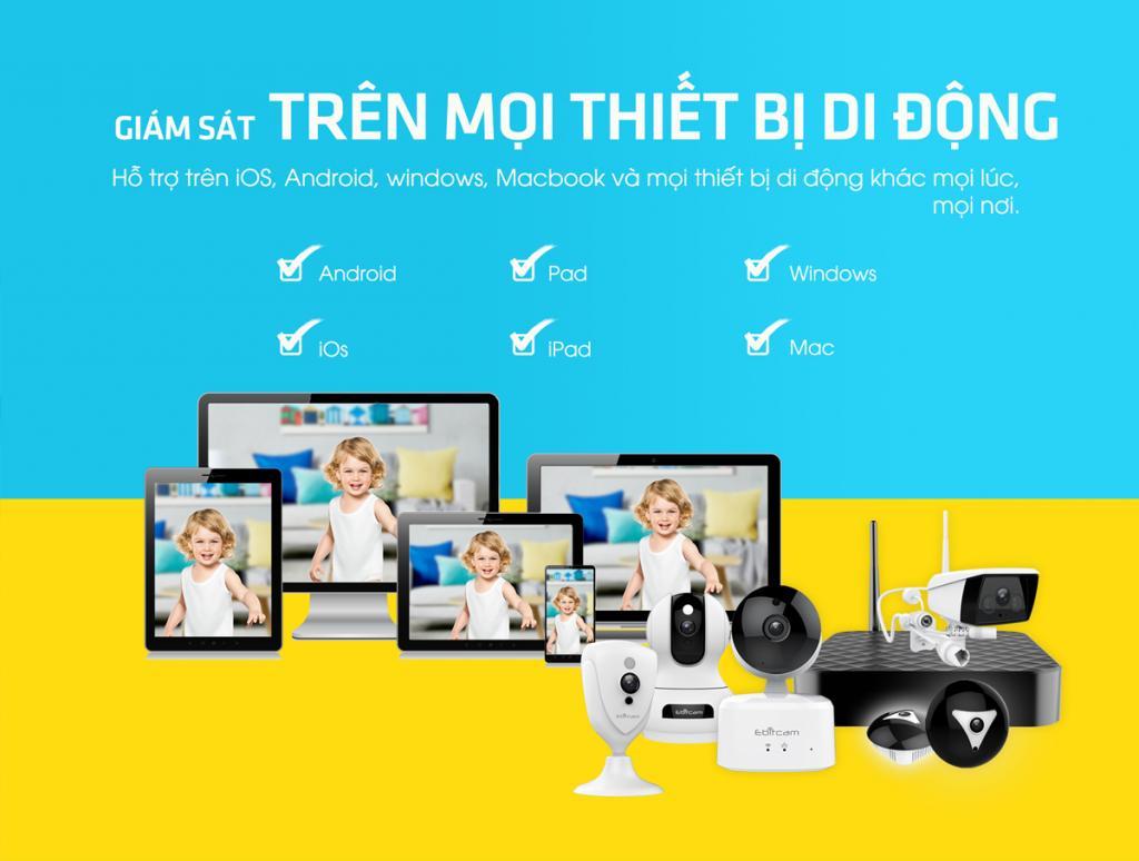 Camera Ebitcam Cube EBF4 2.0Mp 1080P FullHD