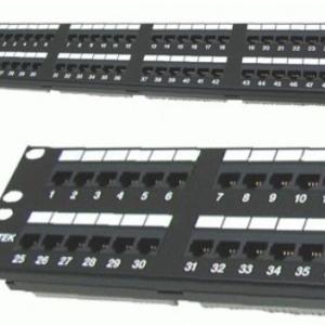 DINTEK Patch Panel Cat.5e UTP 2U 48P 19inch (P/N: 1402-03020)