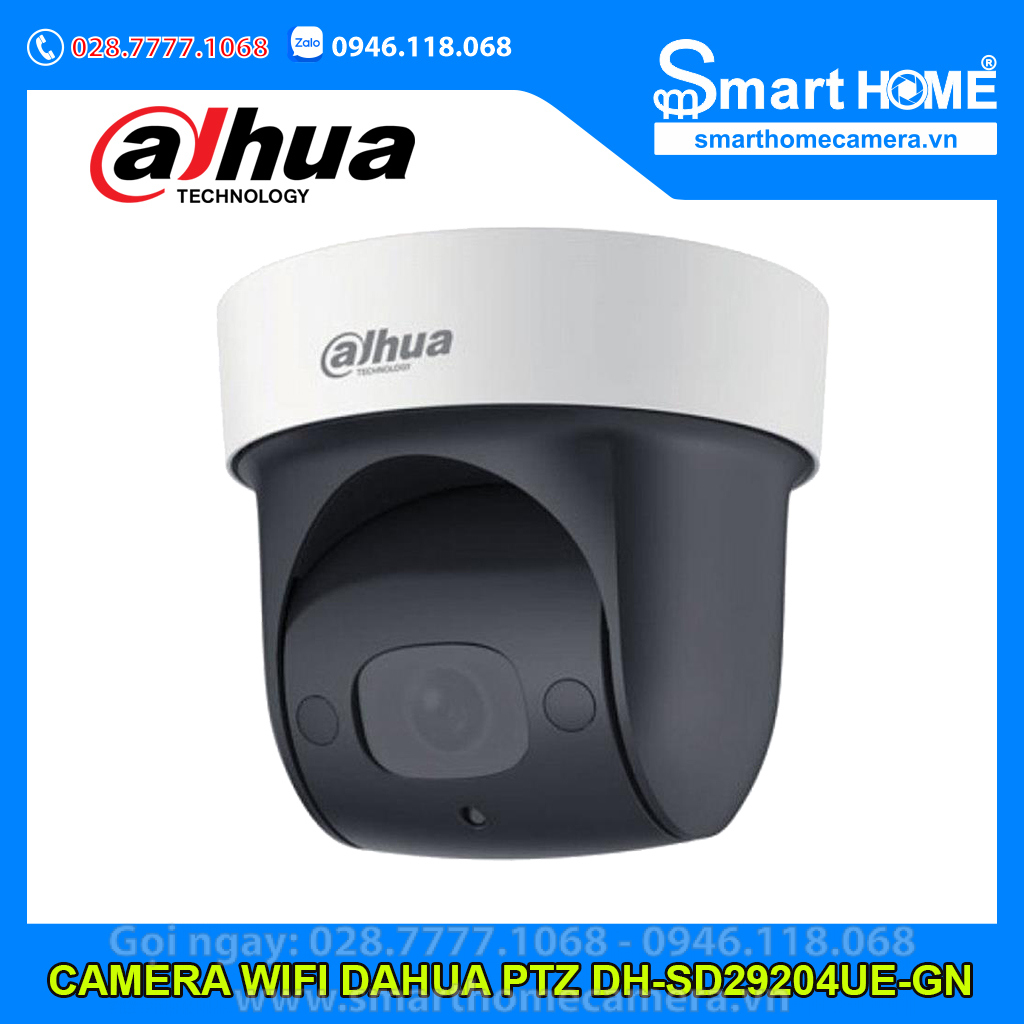 Camera Wifi Dahua DH-SD29204UE-GN - Camera IP Speed Dome Dahua 2.0Mp (Starlight, Có Mic)
