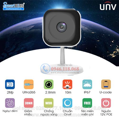 Camera Wifi UNV Cube C1L-2WN 2.0Mp 1080P FullHD