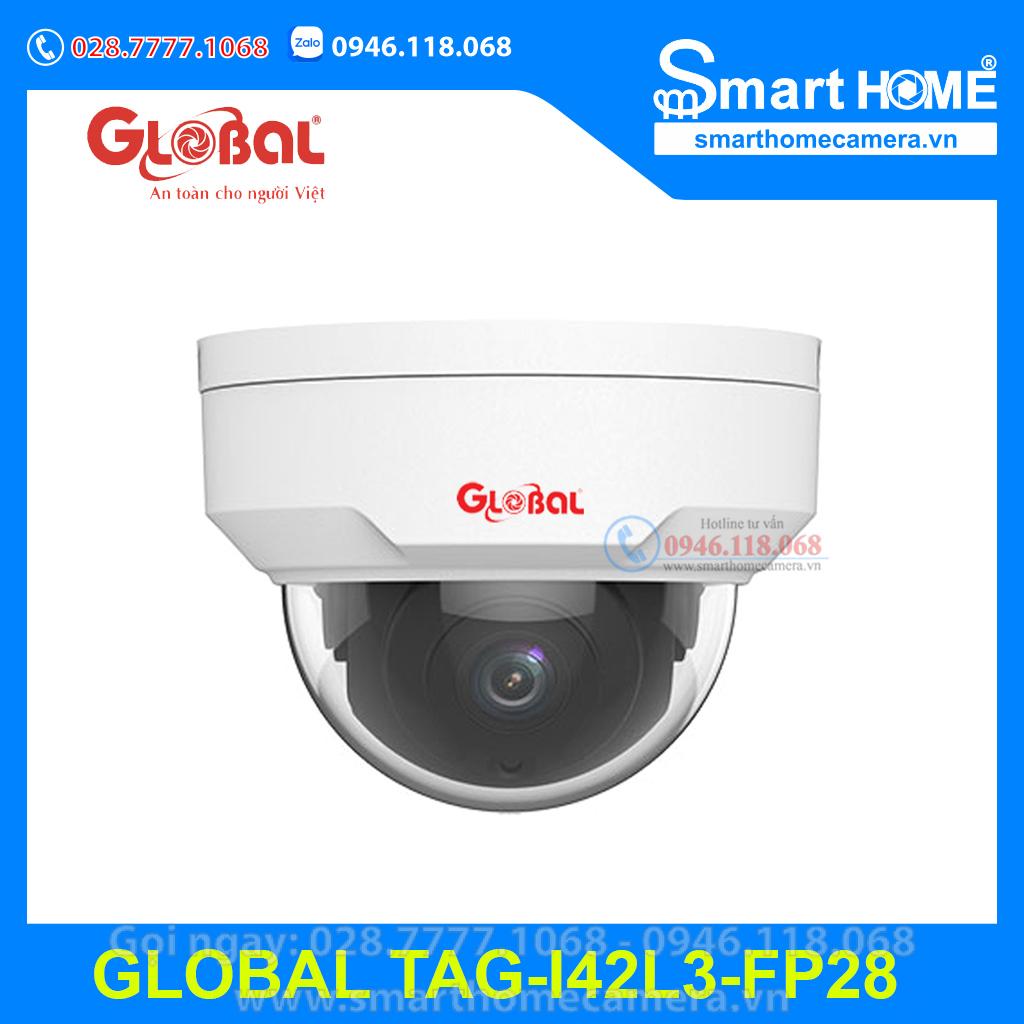 Camera Global IP Dome 2.0Mpx Ultra265 - TAG-I42L3-FP28 (POE)
