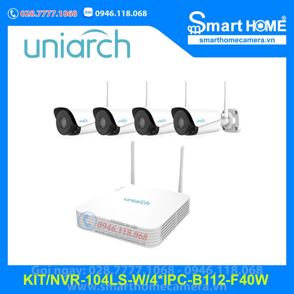 Bộ Kit Wifi Uniarch NVR-104LS-W/4*IPC-B112-F40W