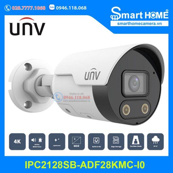 Camera UNV IPC2128SB-ADF28KMC-I0 - Camera IP LightHunter Active Deterrence 8.0Mpx Ultra265