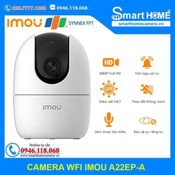 Camera Wifi IMOU A22EP-A 1080P 2.0Mpx FullHD - IPC-A22EP-A-IMOU (New 2021)