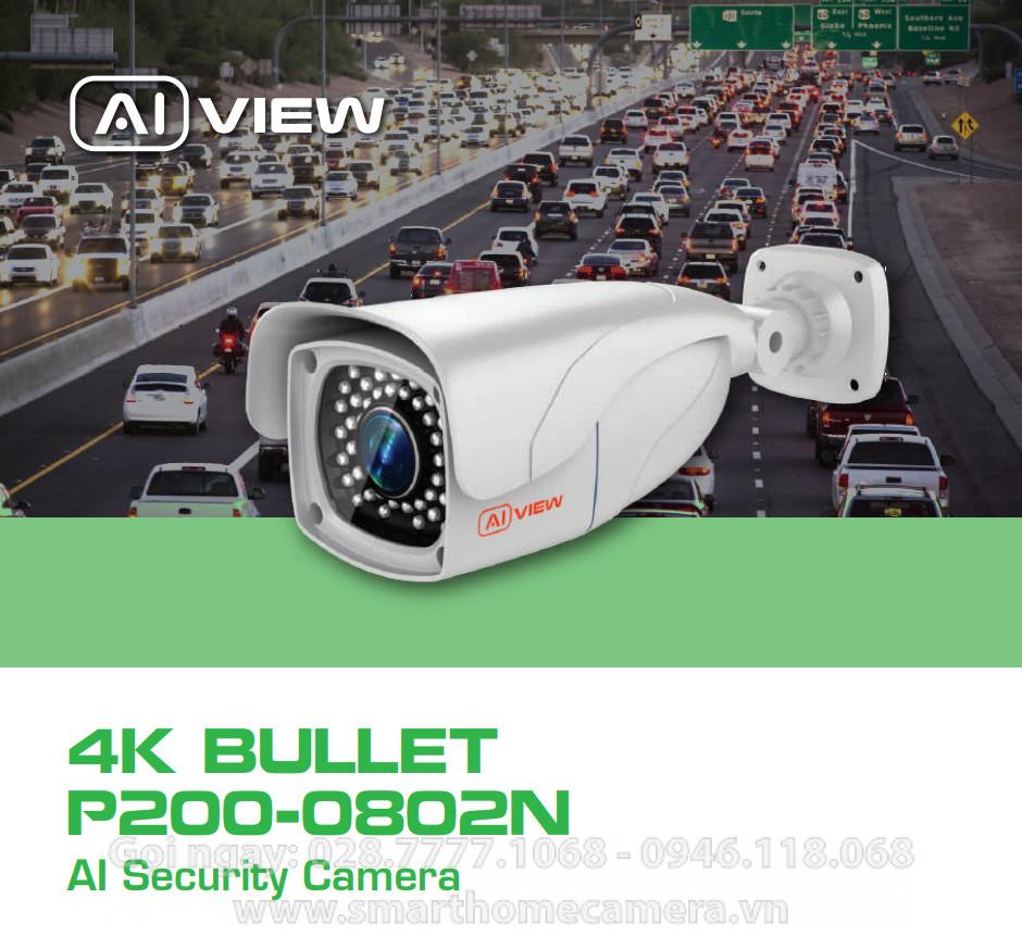 Camera AI View P200-0802N BKAV 8MP 4K