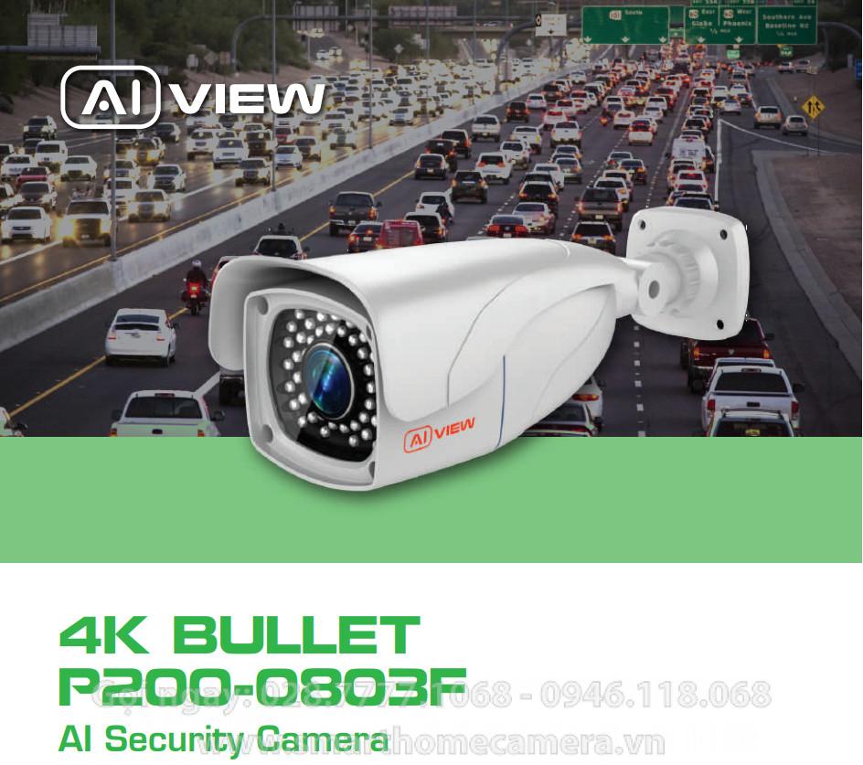 Camera AI View P200-0803F BKAV 8MP 4K