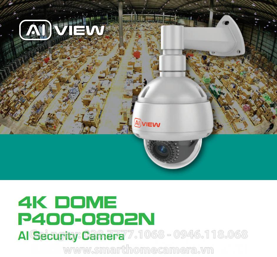 Camera AI View P400-0802N BKAV - PTZ ZOOM 2X - 8MP 4K