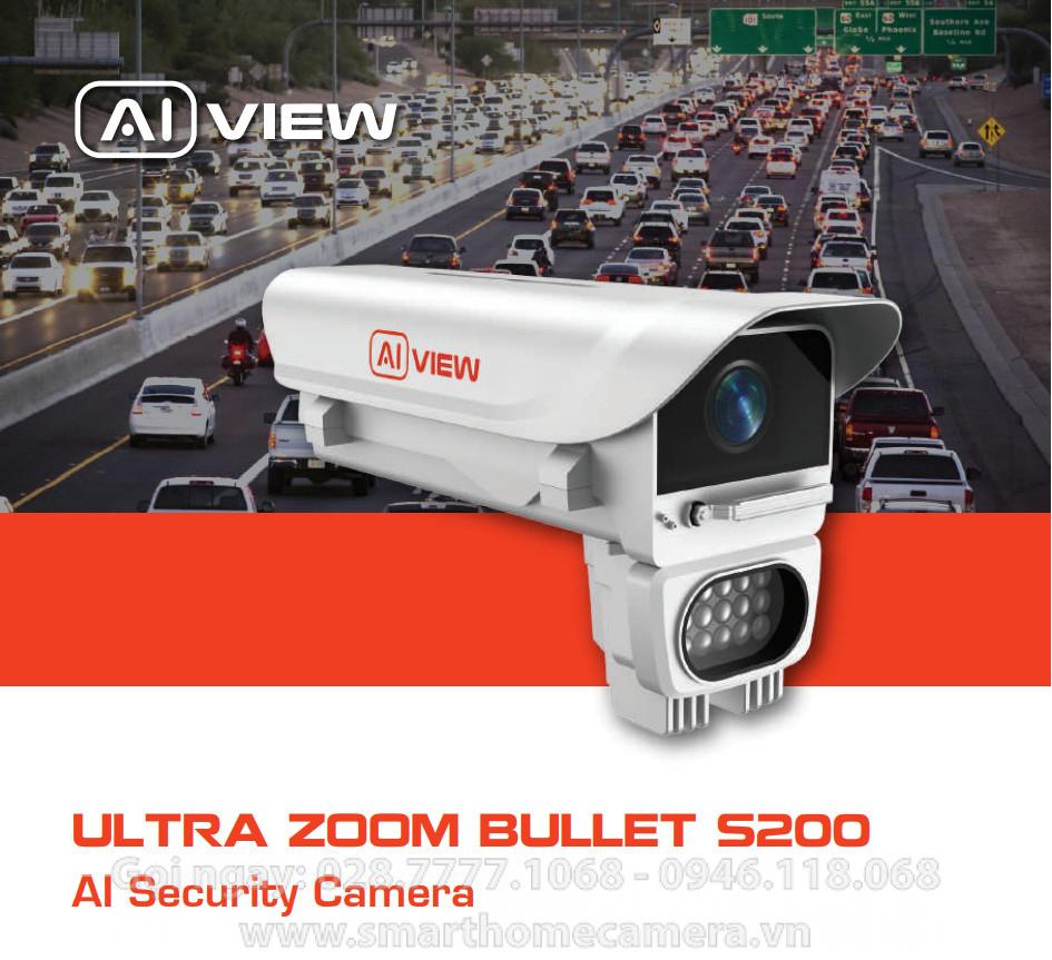 Camera AI View S200 BKAV - BULLET ZOOM 33x - 2MP