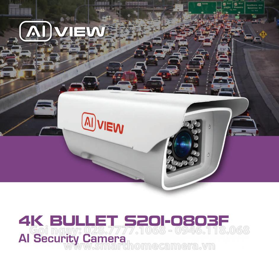 Camera AI View S201-0803F BKAV - BULLET ZOOM 3x - 8MP 4K