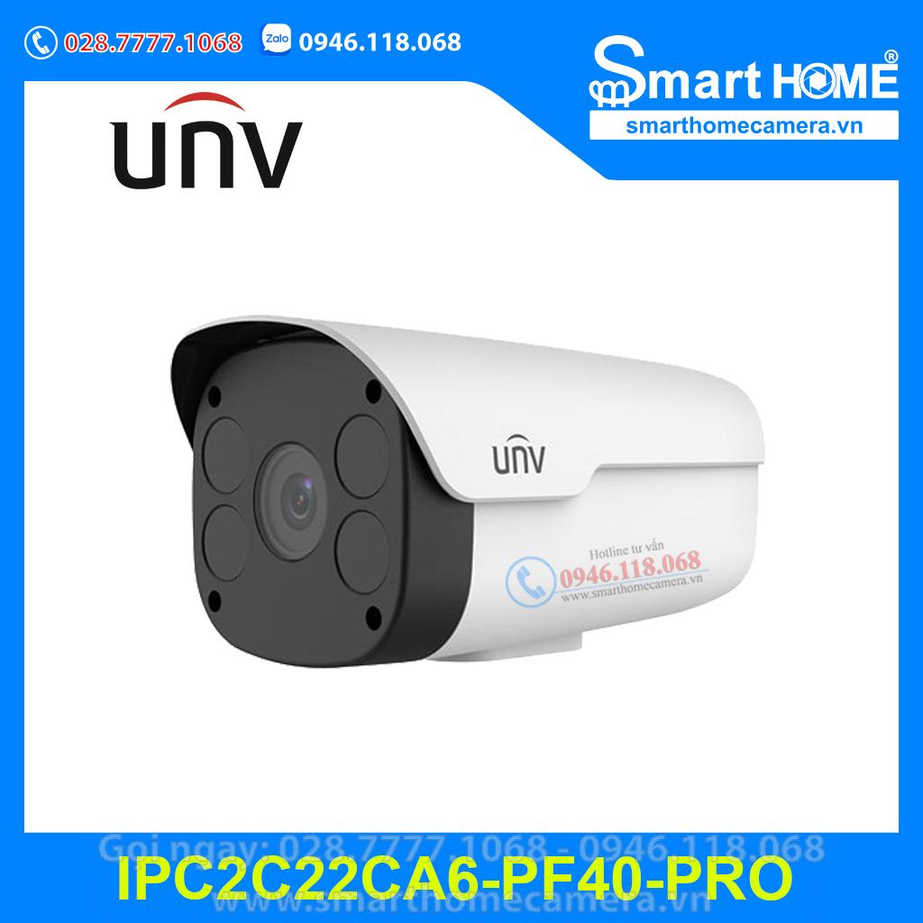 Camera UNV IPC2C22CA6-PF40-PRO - Camera IP thân trụ UNV 2.0Mpx Ultra265
