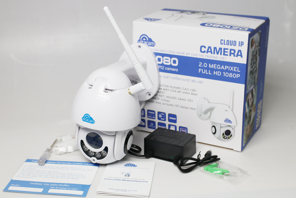 Camera Vitacam IP Wifi - Vitacam DZ1080 ngoài trời 2.0M 1080P FullHD